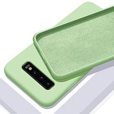 Silikon Hülle Handyhülle Ultra Dünn Schutzhülle Flexible 360 Grad Ganzkörper Tasche C02 für Samsung Galaxy S10 Plus Grün