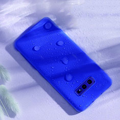 Silikon Hülle Handyhülle Ultra Dünn Schutzhülle Flexible 360 Grad Ganzkörper Tasche C02 für Samsung Galaxy S10e Blau