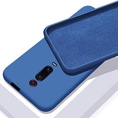 Silikon Hülle Handyhülle Ultra Dünn Schutzhülle Flexible 360 Grad Ganzkörper Tasche C02 für Xiaomi Mi 9T Pro Blau