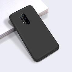 Silikon Hülle Handyhülle Ultra Dünn Schutzhülle Flexible 360 Grad Ganzkörper Tasche C03 für OnePlus 8 Pro Schwarz