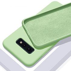 Silikon Hülle Handyhülle Ultra Dünn Schutzhülle Flexible 360 Grad Ganzkörper Tasche C03 für Samsung Galaxy S10e Grün