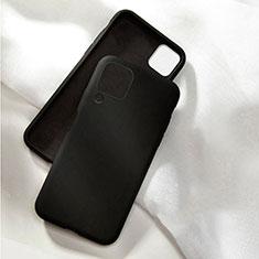 Silikon Hülle Handyhülle Ultra Dünn Schutzhülle Flexible 360 Grad Ganzkörper Tasche C04 für Huawei P40 Lite Schwarz