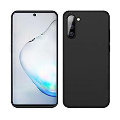 Silikon Hülle Handyhülle Ultra Dünn Schutzhülle Flexible 360 Grad Ganzkörper Tasche C04 für Samsung Galaxy Note 10 5G Schwarz