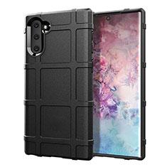 Silikon Hülle Handyhülle Ultra Dünn Schutzhülle Flexible 360 Grad Ganzkörper Tasche C05 für Samsung Galaxy Note 10 5G Schwarz