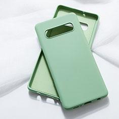 Silikon Hülle Handyhülle Ultra Dünn Schutzhülle Flexible 360 Grad Ganzkörper Tasche C05 für Samsung Galaxy S10 5G Grün