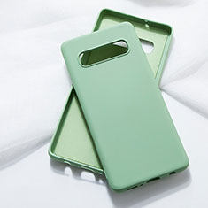 Silikon Hülle Handyhülle Ultra Dünn Schutzhülle Flexible 360 Grad Ganzkörper Tasche C05 für Samsung Galaxy S10 Grün