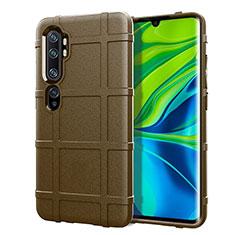 Silikon Hülle Handyhülle Ultra Dünn Schutzhülle Flexible 360 Grad Ganzkörper Tasche C05 für Xiaomi Mi Note 10 Braun