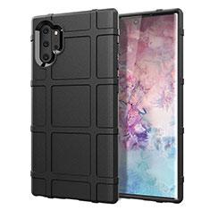 Silikon Hülle Handyhülle Ultra Dünn Schutzhülle Flexible 360 Grad Ganzkörper Tasche C06 für Samsung Galaxy Note 10 Plus 5G Schwarz