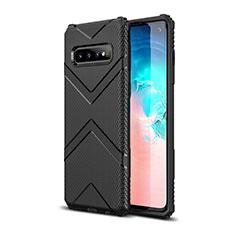 Silikon Hülle Handyhülle Ultra Dünn Schutzhülle Flexible 360 Grad Ganzkörper Tasche C06 für Samsung Galaxy S10 Schwarz