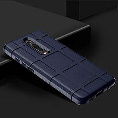 Silikon Hülle Handyhülle Ultra Dünn Schutzhülle Flexible 360 Grad Ganzkörper Tasche C06 für Xiaomi Mi 9T Pro Blau