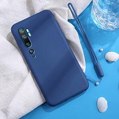 Silikon Hülle Handyhülle Ultra Dünn Schutzhülle Flexible 360 Grad Ganzkörper Tasche C06 für Xiaomi Mi Note 10 Blau