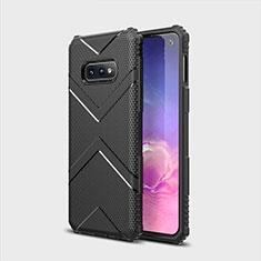 Silikon Hülle Handyhülle Ultra Dünn Schutzhülle Flexible 360 Grad Ganzkörper Tasche C07 für Samsung Galaxy S10e Schwarz