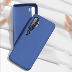 Silikon Hülle Handyhülle Ultra Dünn Schutzhülle Flexible 360 Grad Ganzkörper Tasche C07 für Xiaomi Mi Note 10 Blau