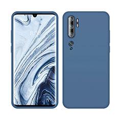 Silikon Hülle Handyhülle Ultra Dünn Schutzhülle Flexible 360 Grad Ganzkörper Tasche C08 für Xiaomi Mi Note 10 Blau