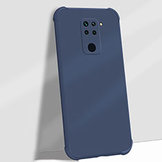 Silikon Hülle Handyhülle Ultra Dünn Schutzhülle Flexible 360 Grad Ganzkörper Tasche G01 für Xiaomi Redmi Note 9 Blau