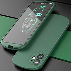 Silikon Hülle Handyhülle Ultra Dünn Schutzhülle Flexible 360 Grad Ganzkörper Tasche N01 für Apple iPhone 12 Grün