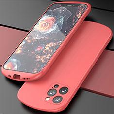 Silikon Hülle Handyhülle Ultra Dünn Schutzhülle Flexible 360 Grad Ganzkörper Tasche N01 für Apple iPhone 12 Pro Rot