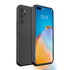 Silikon Hülle Handyhülle Ultra Dünn Schutzhülle Flexible 360 Grad Ganzkörper Tasche N01 für Huawei P40 Schwarz