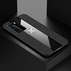 Silikon Hülle Handyhülle Ultra Dünn Schutzhülle Flexible Tasche C01 für Huawei P40 Pro Schwarz
