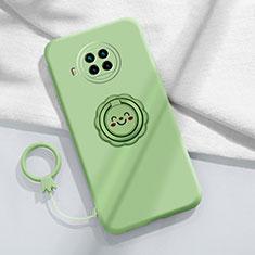 Silikon Hülle Handyhülle Ultra Dünn Schutzhülle Flexible Tasche Silikon mit Magnetisch Fingerring Ständer T01 für Xiaomi Mi 10T Lite 5G Minzgrün