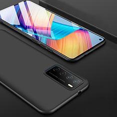 Silikon Hülle Handyhülle Ultra Dünn Schutzhülle für Huawei Honor Play4 5G Schwarz