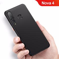 Silikon Hülle Handyhülle Ultra Dünn Schutzhülle für Huawei Nova 4 Schwarz