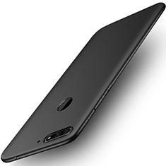 Silikon Hülle Handyhülle Ultra Dünn Schutzhülle für Huawei Y6 (2018) Schwarz