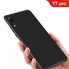Silikon Hülle Handyhülle Ultra Dünn Schutzhülle für Huawei Y7 (2019) Schwarz