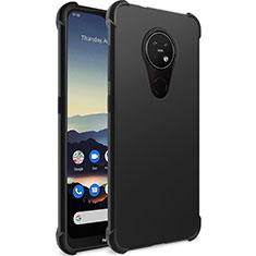 Silikon Hülle Handyhülle Ultra Dünn Schutzhülle für Nokia 7.2 Schwarz