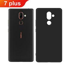 Silikon Hülle Handyhülle Ultra Dünn Schutzhülle für Nokia 7 Plus Schwarz