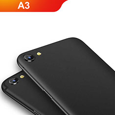 Silikon Hülle Handyhülle Ultra Dünn Schutzhülle für Oppo A3 Schwarz