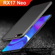 Silikon Hülle Handyhülle Ultra Dünn Schutzhülle für Oppo RX17 Neo Schwarz