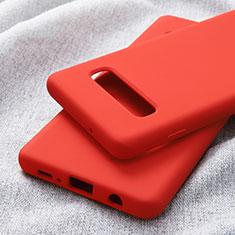 Silikon Hülle Handyhülle Ultra Dünn Schutzhülle für Samsung Galaxy S10 Plus Rot