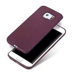 Silikon Hülle Handyhülle Ultra Dünn Schutzhülle für Samsung Galaxy S6 Edge+ Plus SM-G928F Violett
