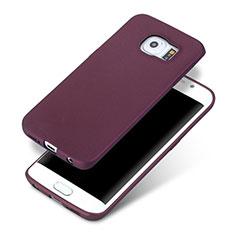 Silikon Hülle Handyhülle Ultra Dünn Schutzhülle für Samsung Galaxy S6 Edge SM-G925 Violett