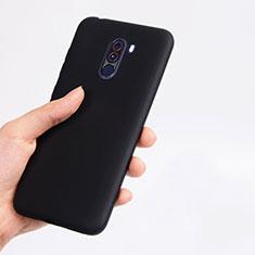 Silikon Hülle Handyhülle Ultra Dünn Schutzhülle für Xiaomi Pocophone F1 Schwarz