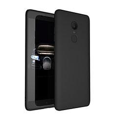 Silikon Hülle Handyhülle Ultra Dünn Schutzhülle für Xiaomi Redmi Note 4 Standard Edition Schwarz