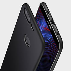 Silikon Hülle Handyhülle Ultra Dünn Schutzhülle Q03 für Huawei Honor 9 Lite Schwarz