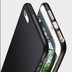 Silikon Hülle Handyhülle Ultra Dünn Schutzhülle R01 für Apple iPhone SE Schwarz