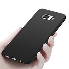 Silikon Hülle Handyhülle Ultra Dünn Schutzhülle R06 für Samsung Galaxy S7 Edge G935F Schwarz