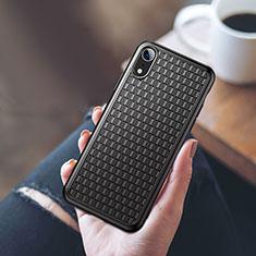 Silikon Hülle Handyhülle Ultra Dünn Schutzhülle S02 für Apple iPhone XR Schwarz