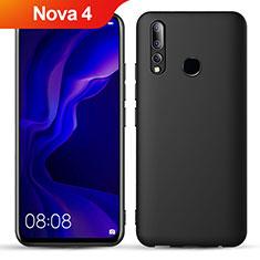 Silikon Hülle Handyhülle Ultra Dünn Schutzhülle S02 für Huawei Nova 4 Schwarz