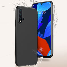 Silikon Hülle Handyhülle Ultra Dünn Schutzhülle S02 für Huawei Nova 5 Schwarz