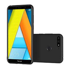 Silikon Hülle Handyhülle Ultra Dünn Schutzhülle S02 für Huawei Y6 (2018) Schwarz