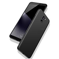 Silikon Hülle Handyhülle Ultra Dünn Schutzhülle S02 für Huawei Y7 Prime Schwarz