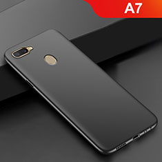 Silikon Hülle Handyhülle Ultra Dünn Schutzhülle S02 für Oppo A7 Schwarz