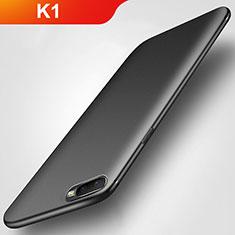 Silikon Hülle Handyhülle Ultra Dünn Schutzhülle S02 für Oppo K1 Schwarz