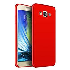 Silikon Hülle Handyhülle Ultra Dünn Schutzhülle S02 für Samsung Galaxy A7 Duos SM-A700F A700FD Rot