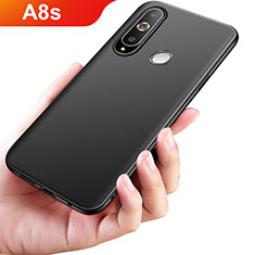 Silikon Hülle Handyhülle Ultra Dünn Schutzhülle S02 für Samsung Galaxy A8s SM-G8870 Schwarz