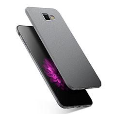 Silikon Hülle Handyhülle Ultra Dünn Schutzhülle S02 für Samsung Galaxy A9 (2016) A9000 Grau